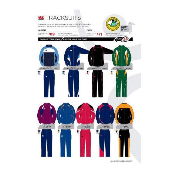 dd82ad211f4 CCC DESIGN YOUR OWN TRACKSUITS- JACKETS - Canterbury Sports Wholesale
